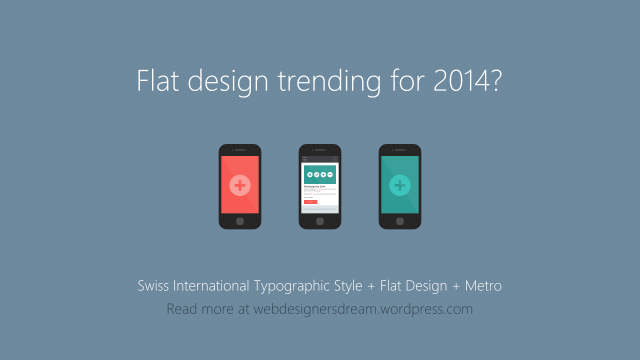 Flat Design Styles for 2014