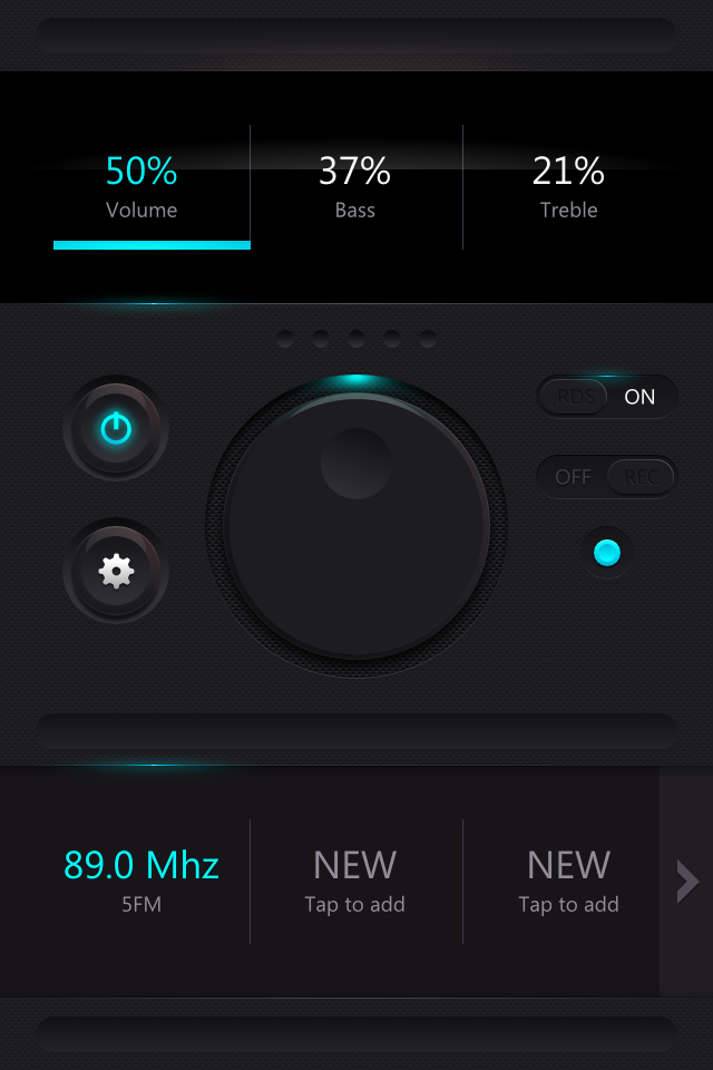 FM Radio - UI Design by Zoe Love
