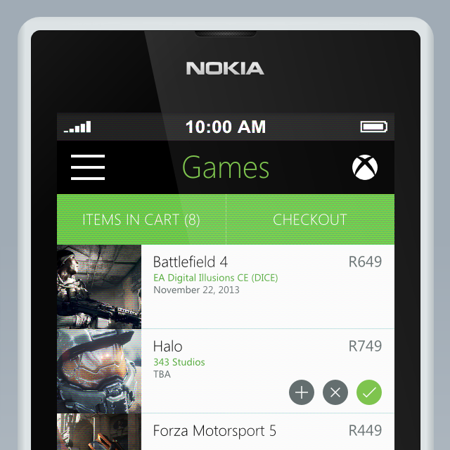 Xbox Marketplace concept close up 2 - Metro UI Design by Zoe Love