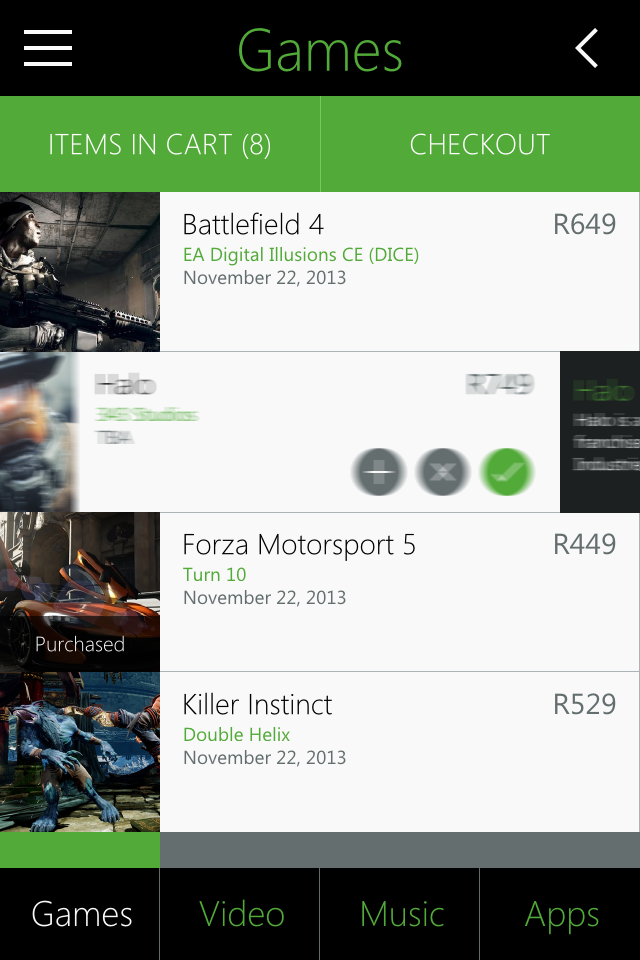 Xbox Marketplace concept - Metro UI Design by Zoe Love 2