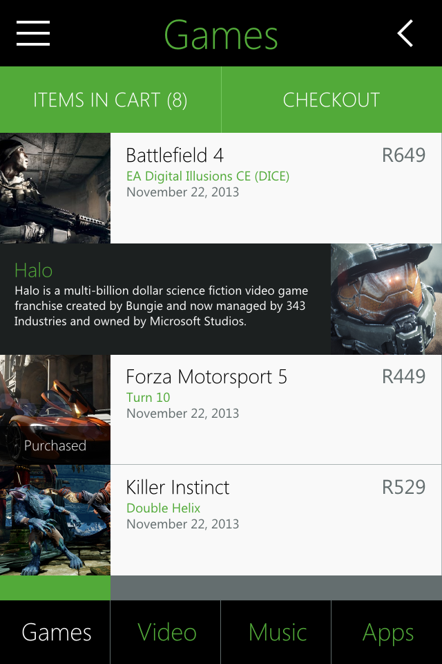 Xbox Marketplace concept - Metro UI Design by Zoe Love 3