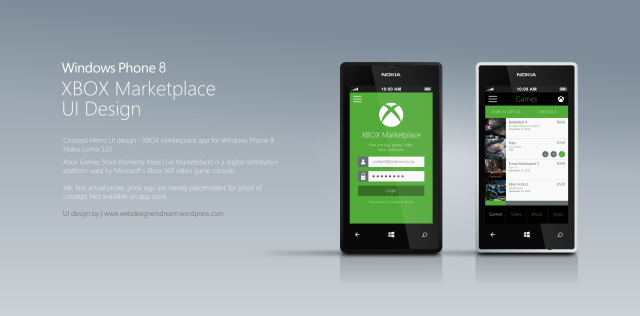 Xbox Marketplace concept Windows 8 - Metro UI Design by Zoe Love