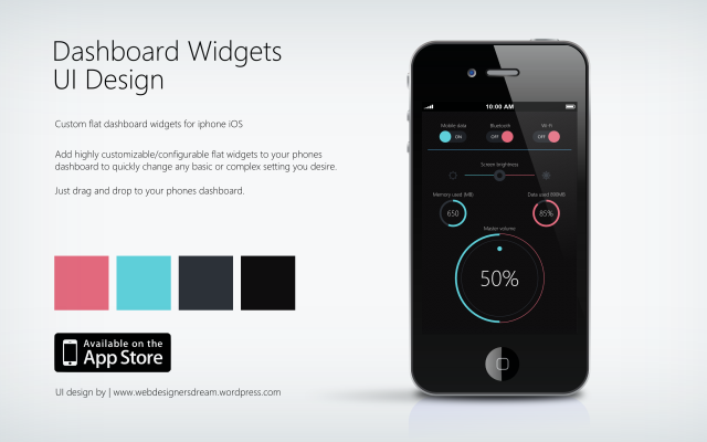 Flat Widgets - UI Design b by Zoe Love