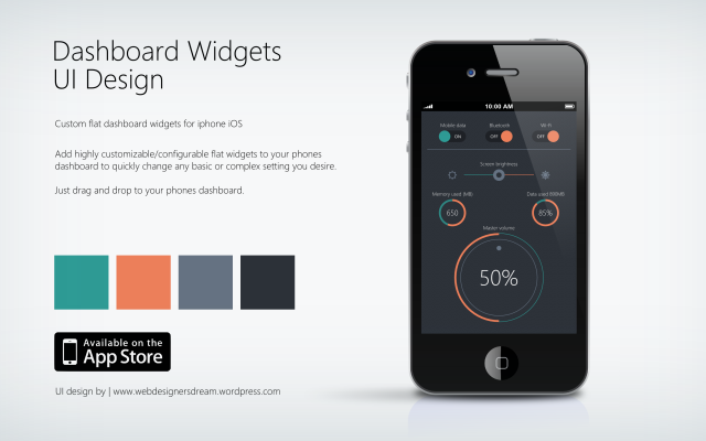 Flat Widgets - UI Design by Zoe Love